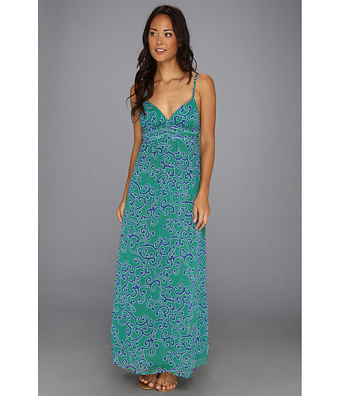 Lenjerie Tommy Bahama - Ocean Swirl Long Maxi Dress Cover-Up - Parakeet Green/Surf Blue