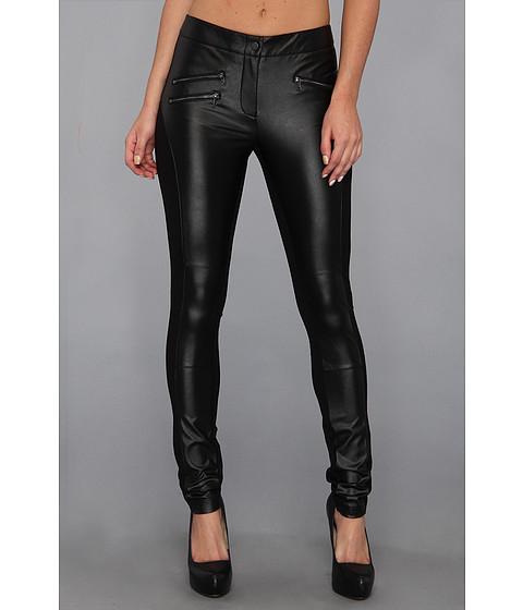 Pantaloni BCBGMAXAZRIA - Stephen Moto Legging - Black