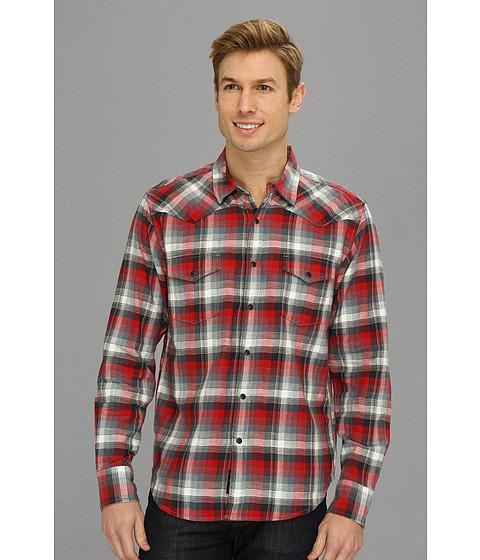 Camasi Lucky Brand - Downdraft Plaid Western Shirt - Red Black Plaid