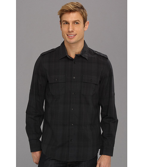 Camasi Calvin Klein Jeans - Plaid L/S Military Shirt - Blue Nights