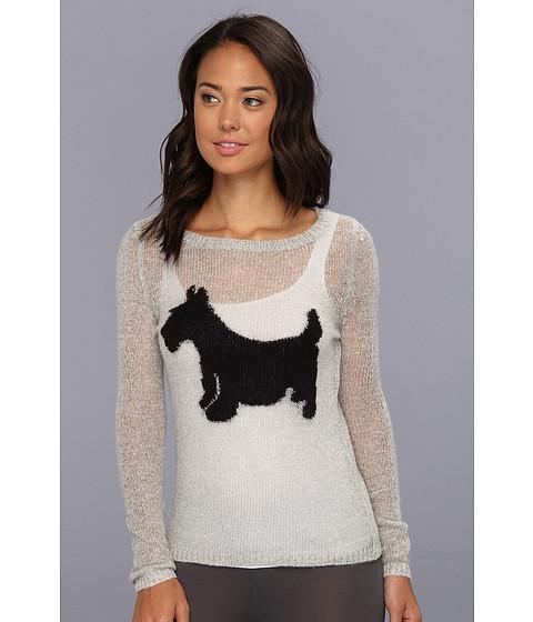 Lenjerie P.J. Salvage - Scotty Dog Lounge Sweater - Light Grey