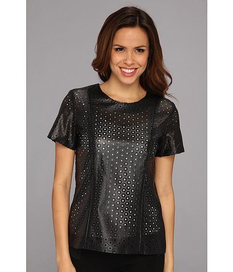 Bluze Calvin Klein - S/S Perforated Top - Black