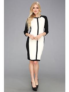 Kilipiruri Vince Camuto Colorblock Sweater Dress New Ivory | mycloset.ro