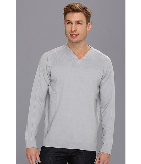 Bluze adidas - Textured V-Neck Sweater - Chrome