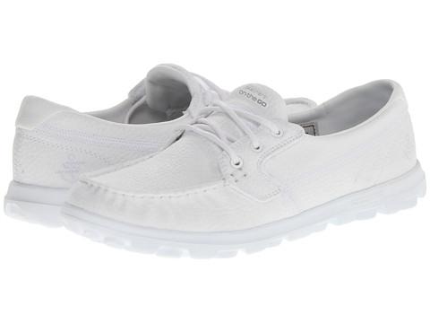 Adidasi SKECHERS - On The Go - Voyage - White
