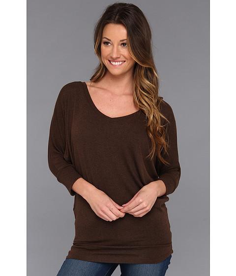 Bluze Christin Michaels - Tronzo 3/4 Sleeve Top - Brown