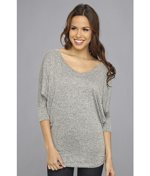 Bluze Christin Michaels - Tronzo 3/4 Sleeve Top - Light Grey