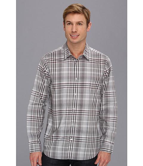 Camasi Calvin Klein - YD Plaid L/S Shirt - Burgundy