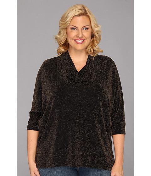 Bluze Karen Kane - Plus Size Dolman Cowl Neck Tunic - Black Grey