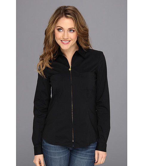 Bluze Anne Klein New York - Zip Front Unlined Shirt - Black