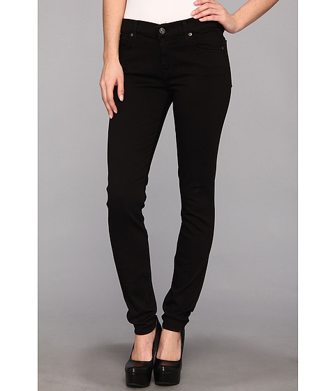 "Blugi 7 For All Mankind - The Skinny 30"" in Black/Black2 - Black/Black2"
