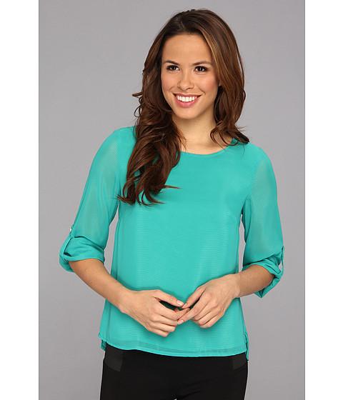 Bluze Calvin Klein - Solid Roll Sleeve Top - Jadeite