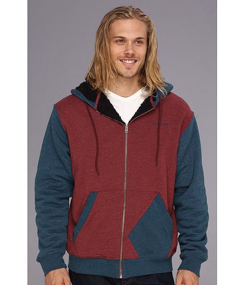 Bluze Volcom - Higgens Lined Fleece Sweatshirt - Merlot