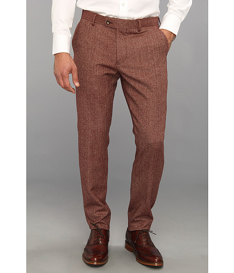 Pantaloni Moods of Norway - Vegard Flo Herringbone Slim Pant - Brown Herringbone