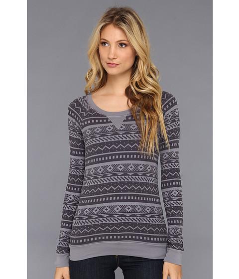 Bluze Splendid - Fairisle Thermal Raglan Pullover - Dark Slate