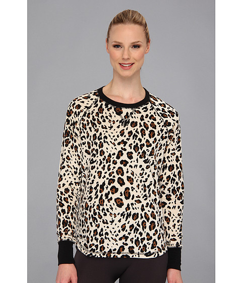 Lenjerie P.J. Salvage - Pop of Pink Leopard Thermal Sleep Top - Natural