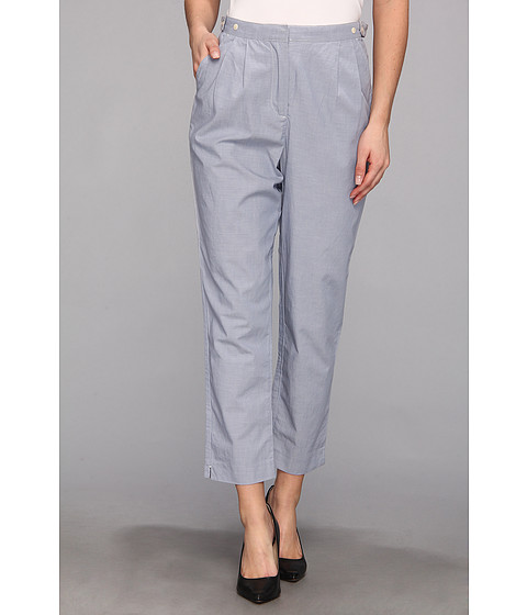 Pantaloni Fred Perry - High Waisted Trousers - Blue Jay