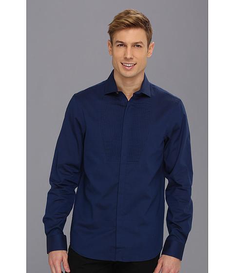Camasi Perry Ellis - Slim Fit Oxford Tux Pleat Shirt - Limoges