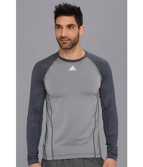 Bluze adidas - CLIMAWARMÃ'® Crew - Graphic Top - Tech Grey/Dark Onix