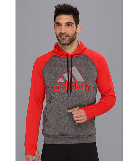 Bluze adidas - Ultimate Hoodie - Graphic - Dark Shale Heather/Light Scarlet