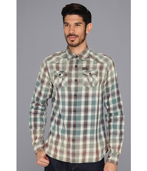 Camasi Scotch & Soda - Western Style Lightweight Flannel Shirt - Green