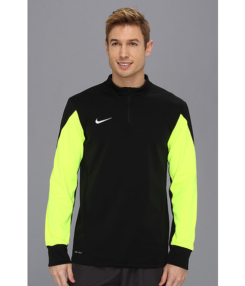 Bluze Nike - Squad Long-Sleeve Midlayer Top - Black/Volt/White