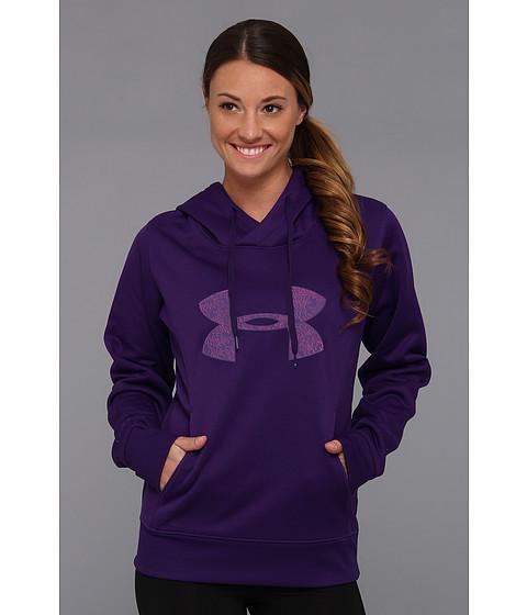Bluze Under Armour - ArmourÃ'® Fleece Storm Pulse Big Logo Hoodie - Purple Rain/Strobe/Pinkadelic/Purple Rain