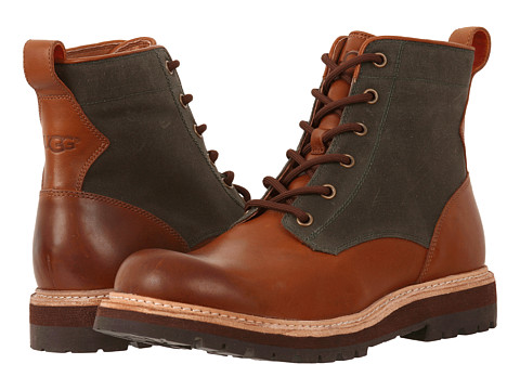 Pantofi UGG - Huntley - Chestnut/Lodge Green Canvas Leather