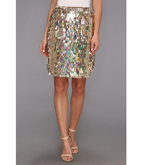 Fuste French Connection - Shimmer Fringe 73ANS Skirt - Pretty Petal Iridescent