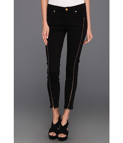 Blugi 7 For All Mankind - Cropped Skinny w/ Long Side Zips - Black