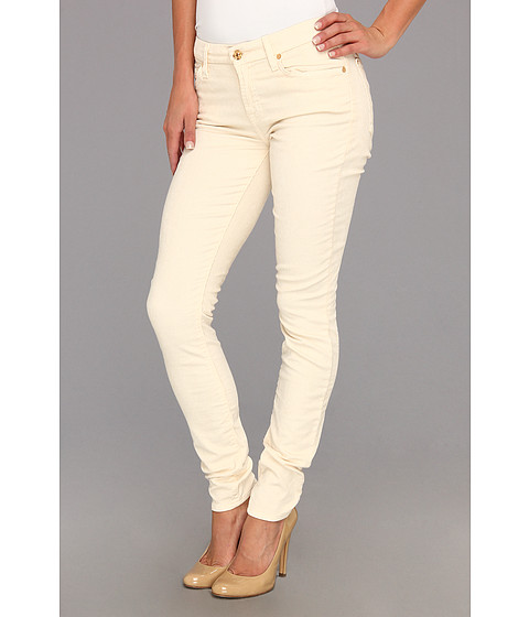 Blugi 7 For All Mankind - The Skinny Solid Sateen Cord in Alabaster White - Alabaster White