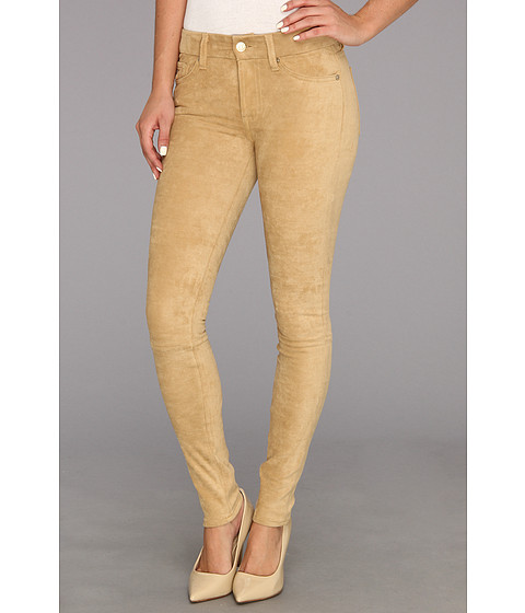 Pantaloni 7 For All Mankind - Sueded Skinny in Sueded Camel - Sueded Camel