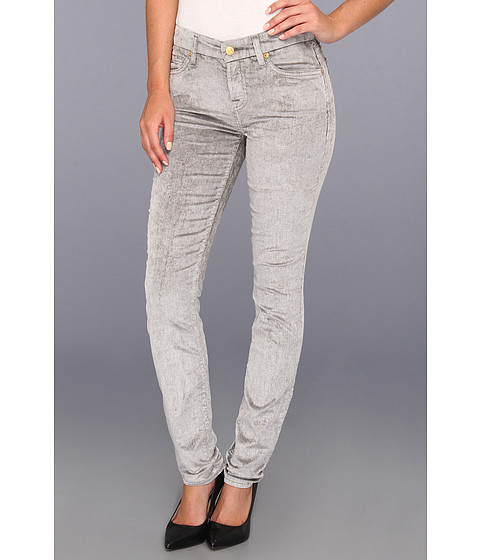 Pantaloni 7 For All Mankind - The Skinny Mineral Sateen Cord in Bleached Vapor Grey - Bleached Vapor Grey