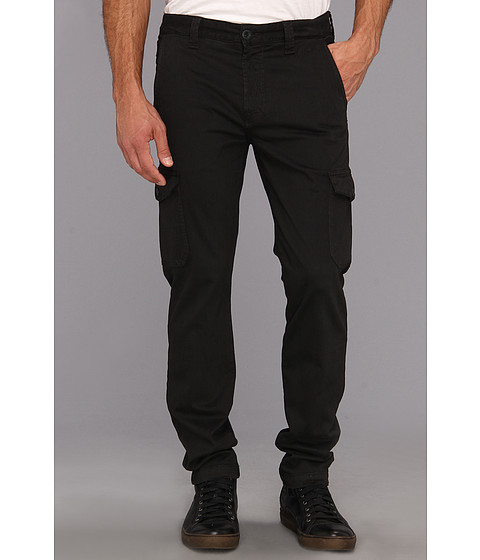 Pantaloni 7 For All Mankind - The Cargo Pant in Sueded Twill - Gun Metal
