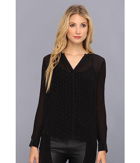 Bluze Rebecca Taylor - L/S Metallic Clip Blouse - Black