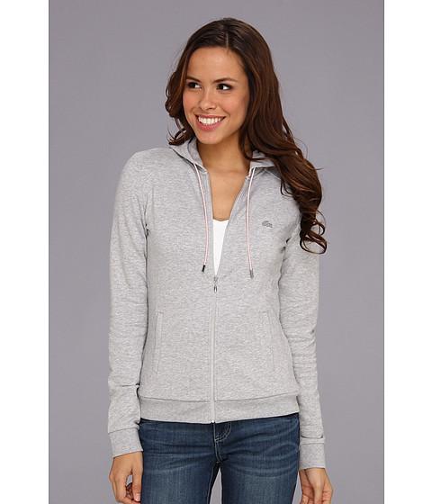 Bluze Lacoste - L/S Hooded Full Zip Sweatshirt - Silver Grey Chine/Wild Rose