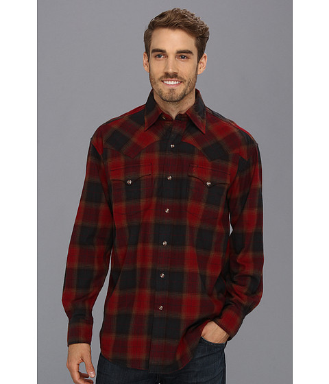 Camasi Stetson - 8919 Red Earth Plaid Brushed Twill - Red