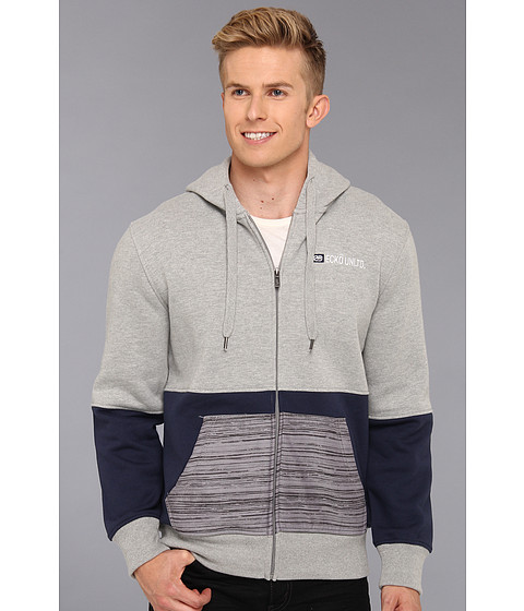 Bluze ECKO - Fashion Colorblock Zip Up - Grey Heather