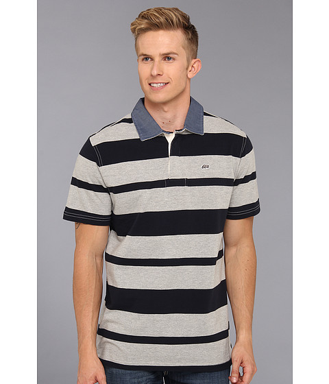 Camasi ECKO - Stripe Polo - Grey Heather