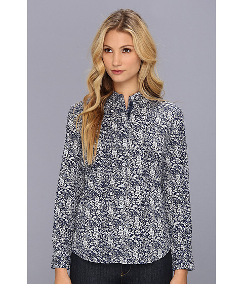 Bluze Christin Michaels - Dilla Button-Up Shirt - Navy Print