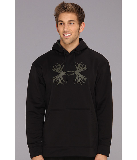 Bluze Under Armour - ArmourÃ'® Fleece Storm Solid Antler Hoodie - Black/Rifle Green