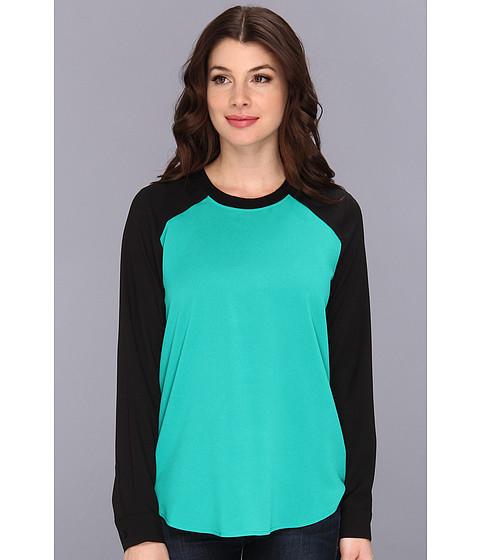 Bluze Calvin Klein - L/S Colorblock w/ Rib Neck Top M3KA9647 - Jadeite