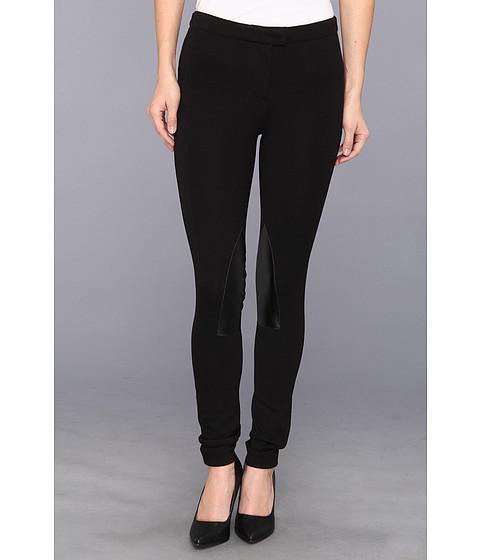 Pantaloni MICHAEL Michael Kors - Petite Knit Faux Leather Riding Pant - Black