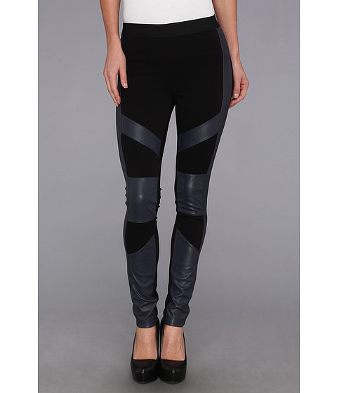 Pantaloni BCBGMAXAZRIA - Bayle Mix Media Legging - Dark Navy Combo