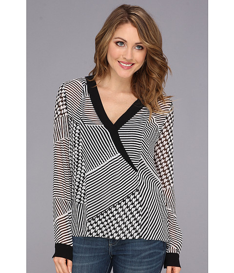 Bluze Kenneth Cole - Maricel Blouse - Black/White