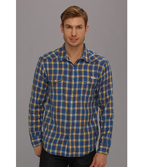Camasi Lucky Brand - Blue Ridge Plaid Western Shirt - Blue/Yellow
