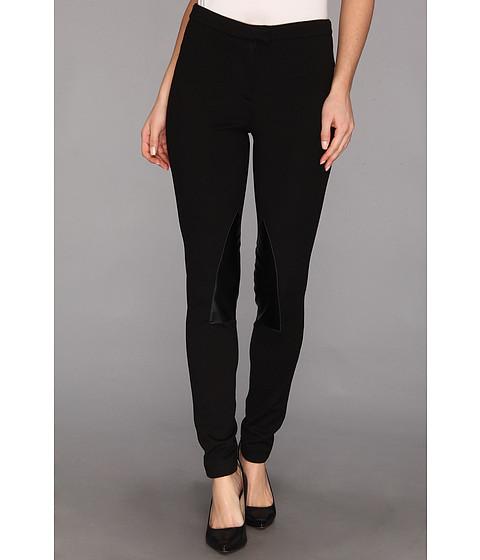 Pantaloni MICHAEL Michael Kors - Faux Leather/ Knit Riding Pant - Black