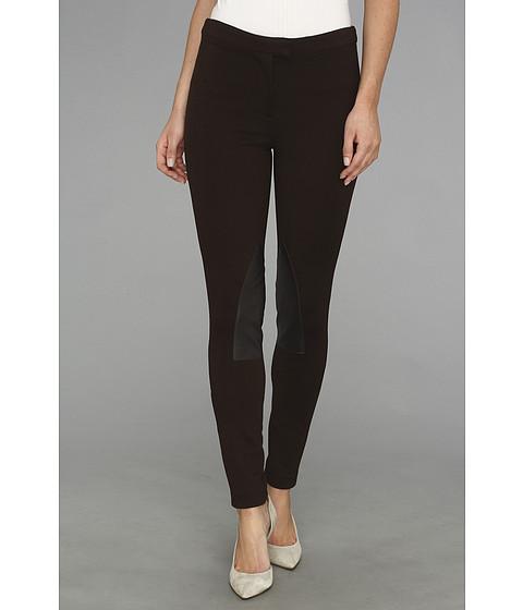 Pantaloni MICHAEL Michael Kors - Faux Leather/ Knit Riding Pant - Chocolate