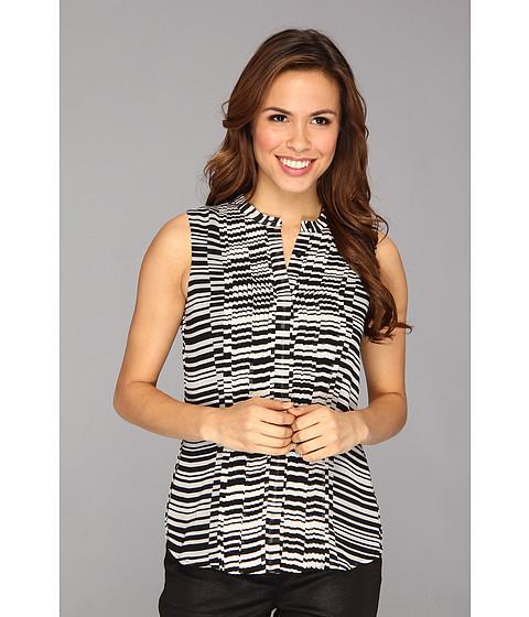 Bluze Calvin Klein - S/L Pintuck Top M3KAI656 - Black/White