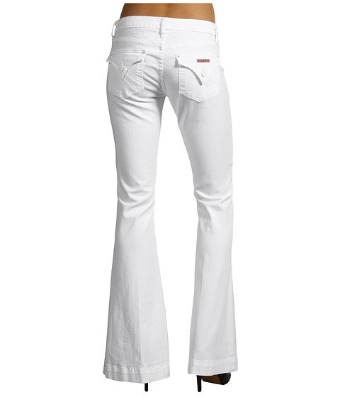 Blugi Hudson - Ferris Flap Pocket Flare in White - White